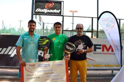 Antonio Luque, campeón del Gran Slam Plata de Otoño de Madrid junto a Raúl Marcos