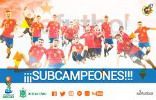Nacho Díaz, subcampeón del mundo con la Selección Española sub'17