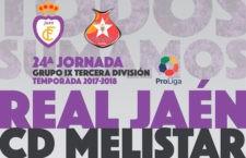 El Real Jaén recibirá a las 20.00h al Melistar en la jornada intersemanal