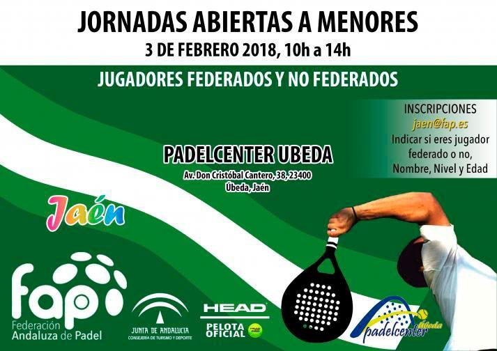 Padel Center Úbeda acogerá el 3 de febrero unas jornadas abiertas ...