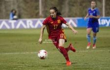 La futbolista jiennense durante su participación con la selección española. Foto: ellassonfutbol.com