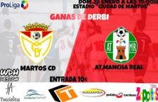 El Martos CD – Atlético Mancha Real se jugará el domingo por la tarde