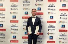 Pedro Delgado, de Motoquad de Mancha Real, galardonado en la Gala de Campeones de la RFEdeA