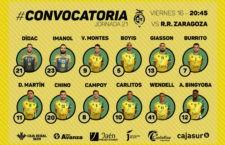 Convocatoria del Jaén FS para Zaragoza