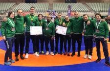 Cuatro podios para el Club de Luchas Olímpicas de Torredelcampo en el Nacional celebrado en Murcia