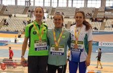 Natalia Romero y Carlos Rojas, plata y bronce en el Nacional en pista cubierta