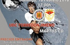 El UDC Torredonjimeno-Martos CD, este domingo por la tarde