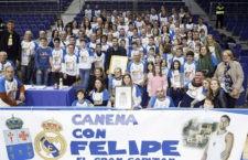 Felipe Reyes se vio arropado por Canena en el Real Madrid – Valencia Basket