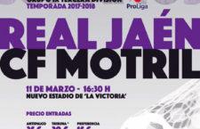 El Real Jaén jugará en horario de tarde ante el CF Motril