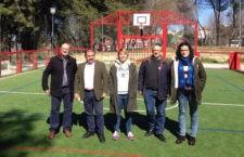 Instaladas pistas de multideporte en los parques de Las Quebradas y Las Celadas de Torredonjimeno