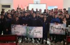 Unos sesenta jóvenes asistieron a la ponencia 'Mejor piel, mejor futbolista' en Andújar
