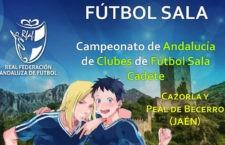 Cazorla y Peal acogen la fase final del Campeonato de Andalucía de clubes cadetes de fútbol sala