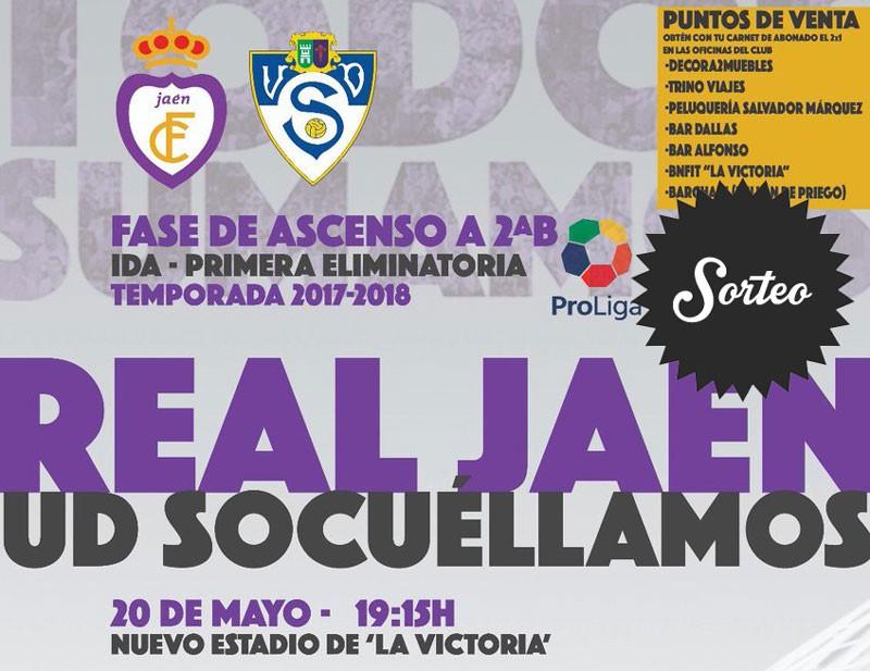 Sorteo de dos entradas para asistir al Real Jaén – UD Socuéllamos (Preferencia)