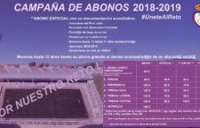 El Real Jaén anuncia los precios de los abonos 2018-19