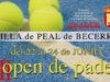 Peal de Becerro acoge este fin de semana su Open de Pádel con carácter solidario