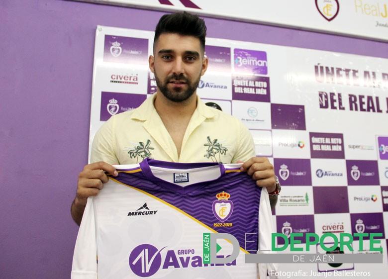 Imagen de la presentación de Fran Hernández a su llegada al Real Jaén