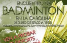 La Carolina celebrará su primer encuentro de bádminton