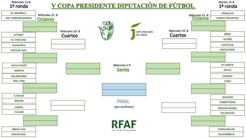 Sorteados los cruces de la quinta edición de la Copa Presidente Diputación de fútbol