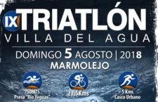 Marmolejo celebrará este domingo su noveno Triatlón 'Villa del Agua'