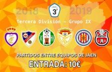 Acuerdo entre los seis equipos jiennenses de la Tercera División por el precio de las entradas visitantes