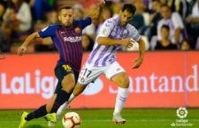 Javi Moyano cumplió su partido cien con el Valladolid ante el Barça