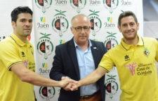 Ramón Bueno y Rafa López, presentados como nuevos jugadores del Jaén FS. Foto: Jaén FS
