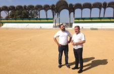 Diputación invertirá 245.000 euros para instalar césped artificial en el campo de fútbol de Baños de la Encina