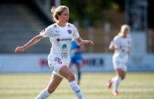 Celia Jiménez durante un partido con el FC . Foto: Bjorn Lindgren