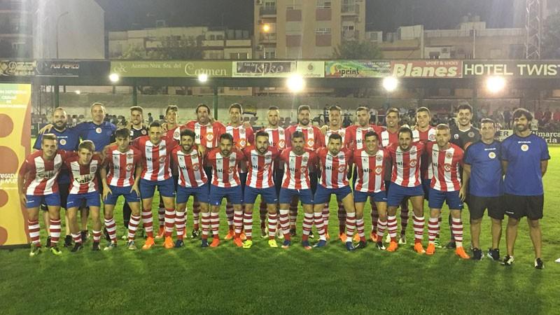 Jugadores y cuerpo técnico de la UDC Torredonjimeno