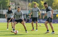 El jiennense Javi Moyano durante un entrenamiento. Foto: Real Valladolid.