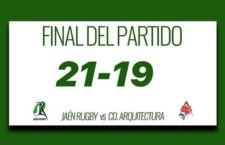 Jaén Rugby reaccionó a tiempo para sumar la victoria frente a CD Arquitectura