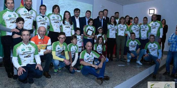 La Gala del Ciclismo Jiennense reconoció en Bélmez de la Moraleda a los más destacados del 2018
