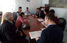 Miembros del Consejo de Deportes mantienen una reunión. Foto: Ayto. Jaén.