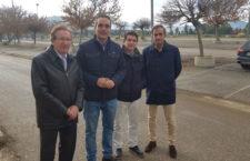Representantes municipales y del club jiennense visitan la zona. Foto: Ayto. Jaén.