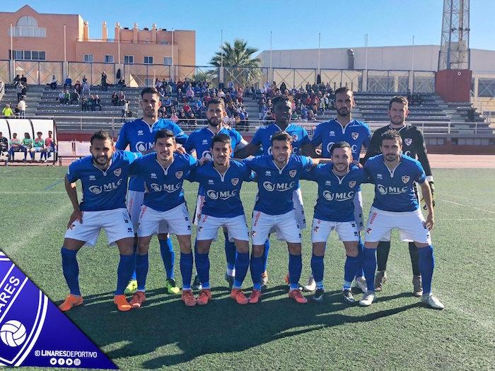 Once incial del Linares Deportivo ante el Club Pvo. Almería.