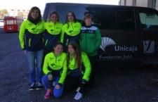 El club jiennense, comprometido con el deporte femenino. Foto: Unicaja Atletismo.