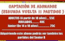 En marcha la campaña de abonados del UDC Torredonjimeno para la segunda vuelta