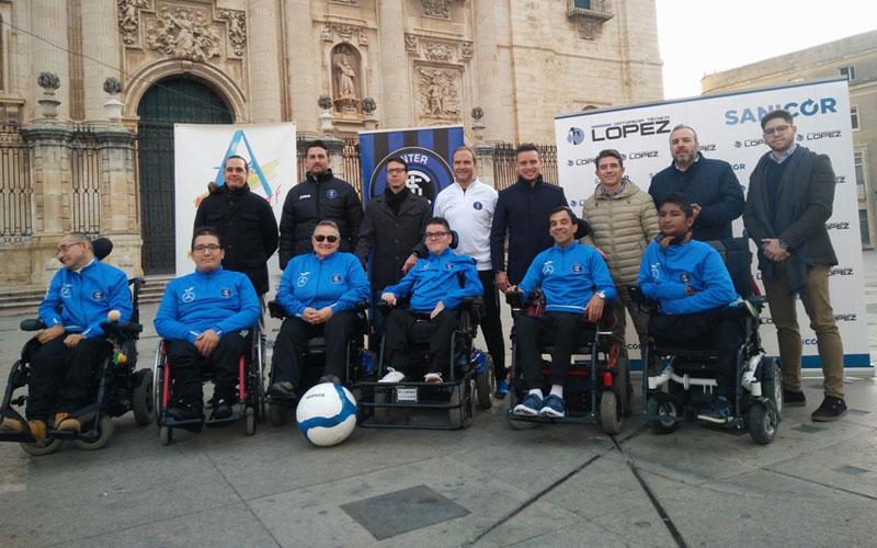 El Inter de Jaén presenta su equipo de fútbol adaptado