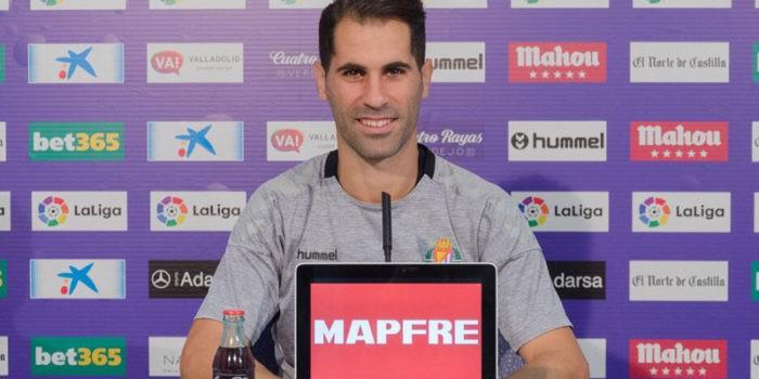 Javi Moyano, cada vez más cerca de volver a vestirse de corto. Foto. Real Valladolid.