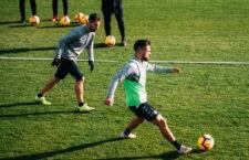Javi Moyano, recuperado de su lesión. Foto: Real Valladolid.