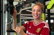 La joven futbolista jiennense sustituyó a Marta Corredera. Foto: SeFutbol.