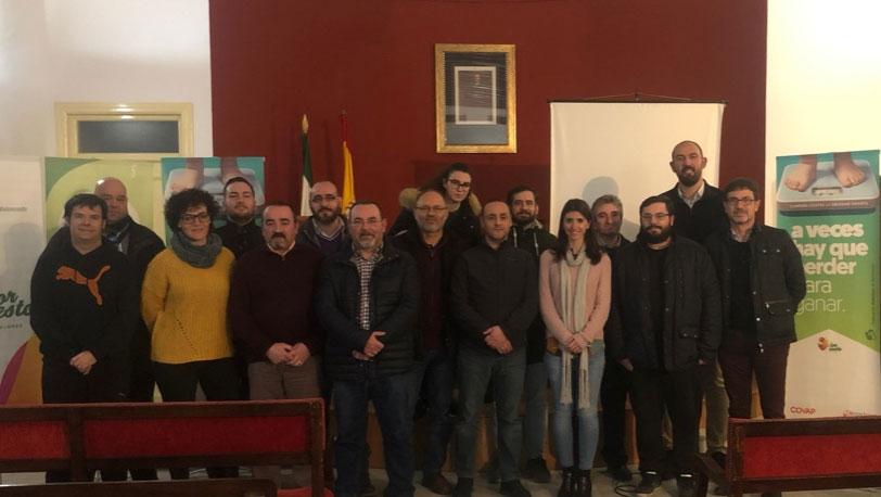 Foto de familia de los representantes de clubes de Jaén