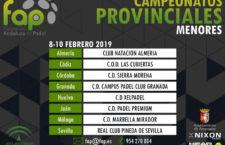 PadelaKademia y Padel Premium, sedes de campeonatos de la Federación Andaluza