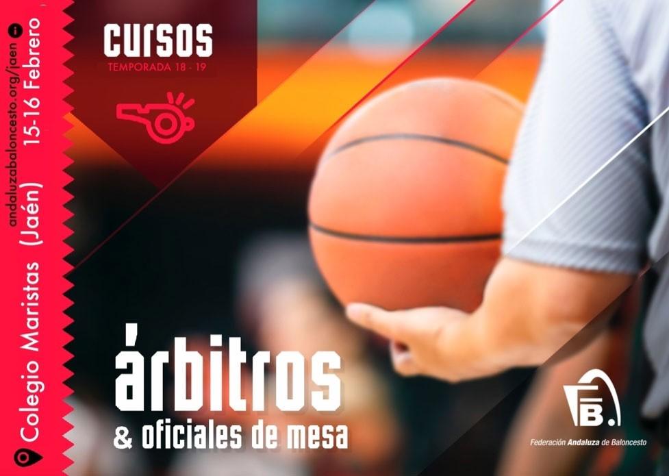 Cartel anunciador del curso de árbitros de la FAB Jaén