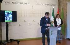 Juan Ángel Pérez atiende a los medios durante la presentación. Foto: Diputación de Jaén.