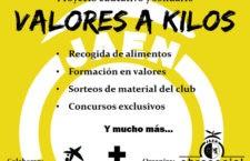 El Jaén FS impulsa el proyecto educativo y solidario 'Valores a kilos'