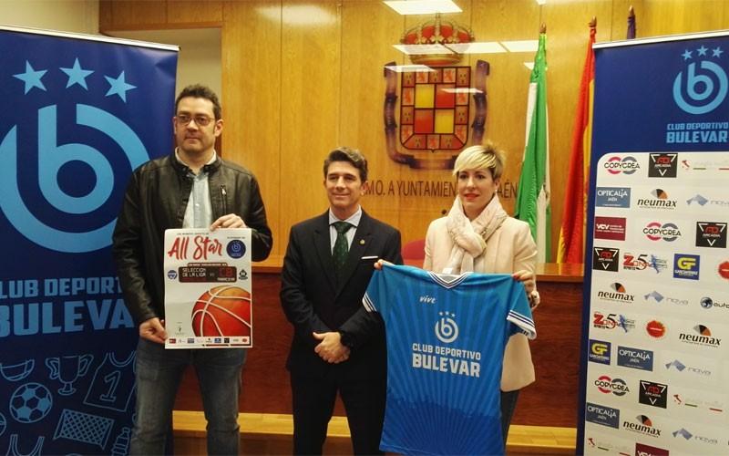 Autoridades y organizadores en la presentación del All Star Baloncesto Jaén