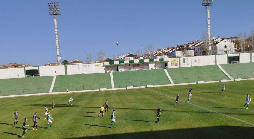 Estadio El Maulí durante el partido entre el Antequera y el Mancha Real