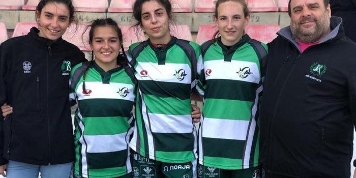 Las jóvenes promesas del rugby jiennense se hacen hueco a nivel autonómico. Foto: Jaén Rugby.