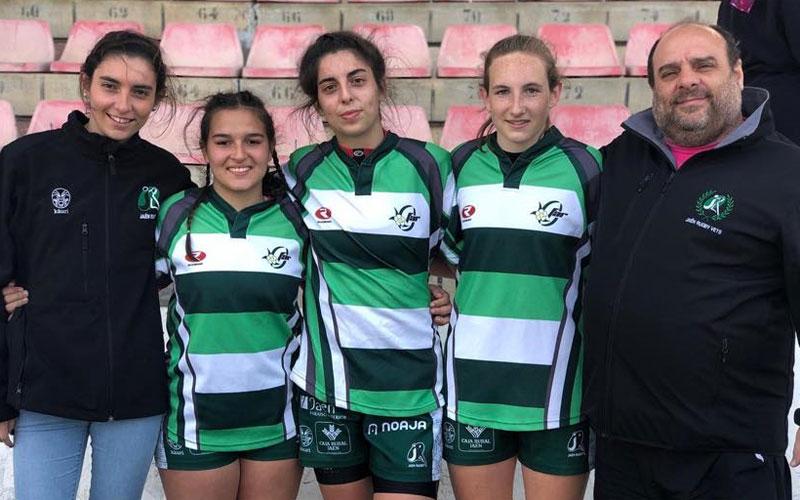 Jugadoras del Jaén Rugby femenino